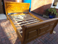 Pine Sleigh Bed /Double.