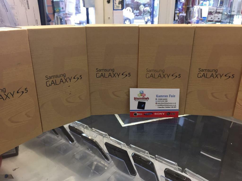 SAMSUNG GALAXY S5 UNLOCKED BRAND NEW WARRANTYSHOP RECEIPTin Bradford, West YorkshireGumtree - SAMSUNG GALAXY S5 UNLOCKED BRAND NEW WARRANTY & SHOP RECEIPTUSED £125New £149.99 pick up fromBISMILLAH PHONES BD1 3JY BRADFORD TOWN CENTER Ph 1274921308FREE SCREEN PROTECTOR TEMPERED GLASS OR COVER UK REFURBISHED opening time MONDAY TO SATURDAY 9...
