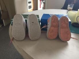 Girl toddler trainers size 4