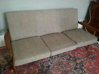Original 1960s Vintage Guy Rogers Teak Manhattan Sofa