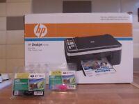 HP DESKJET F4180 ALL IN ONE PRINTER/SCANNER/COPIER WITH NEW INK CARTRIDGES