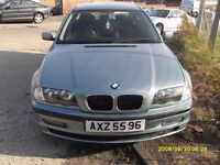 BMW 3 SERIES 318..GREEN BLUE..WITH PRIVATE PLATE..FULL MOT