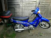 Loncin 110cc step thru not Honda C90 only 36 miles from new, may Swap for 50cc Vespa style scooter