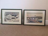 2 Framed Japanese Prints