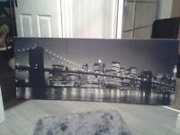 Brooklyn Bridge Long Canvas - Large Wall Canvas & in Excellent Condition 150X60