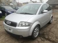 2001/Y Audi A2 1.4 Tdi, £30 road tax, low miles, FSH, new MOT, cambelt kit & service, excellent!!