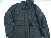 Hein Gericke black textile motorcycle jacket XXL