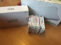 Wii console, Wii fit plus and games