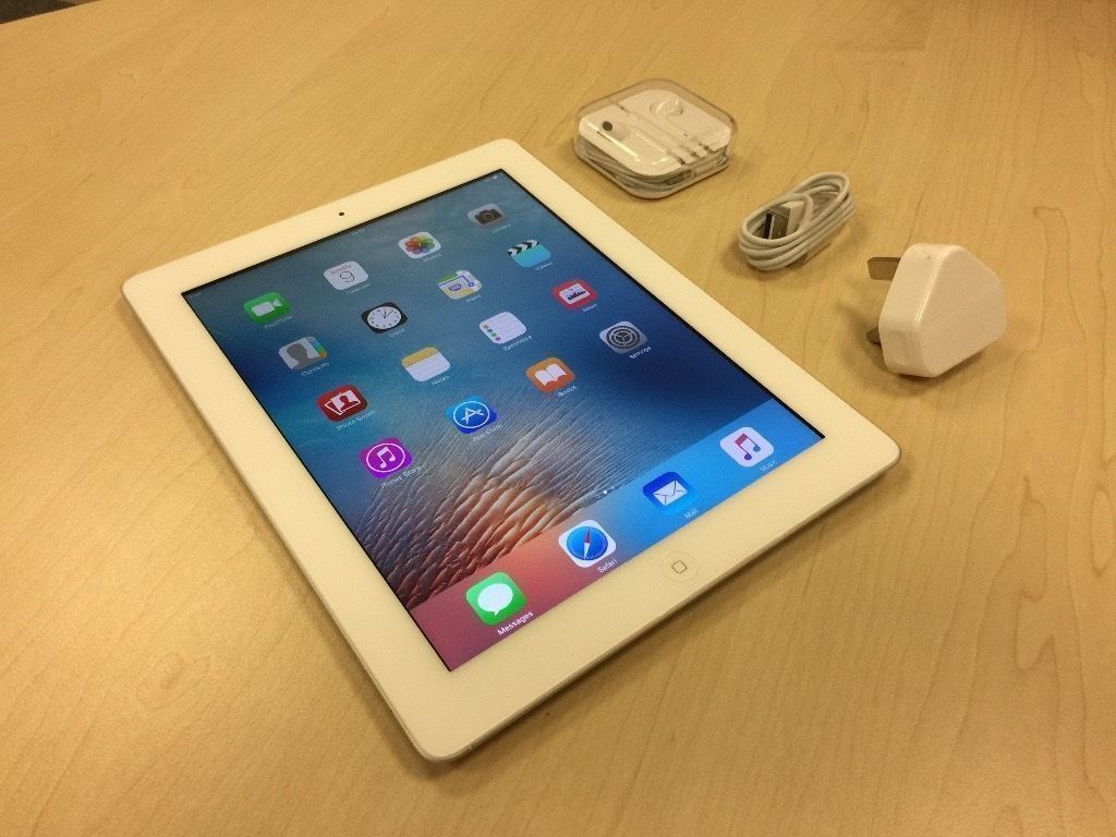 White Apple iPad 4 16GB - Wifi Model - Ref: 4