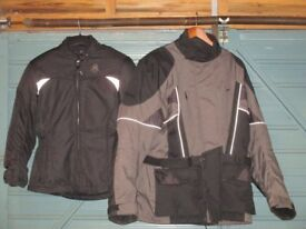 Helmets, Gloves, Jackets,Trousers, Boots.