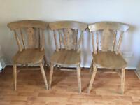 Fiddleback chairs