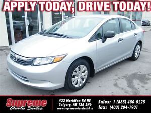 2012 Honda Civic 5 Speed EVERYONE APPROVED!!