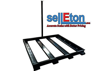 Pit Frame Ground Floor Scale Bumper Protector Capacity 10k Lbs 48x48