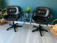 Beautiful pair of swivel chairs by Gastone Rinaldi