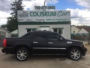 2007 Cadillac Escalade EXT MATTE BLACK, LEATHER, AWD, LOADED, 17