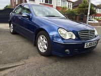2005 MERCEDES C180- AUTOMATIC,72000 GENUINE LOW MILEAGE(VOSA HISTORY),MOT JUNE.2018,LEATHER INTERIOR