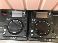 PIONEER XDJ 1000 MK2 PAIR MINTTT DJM DDJ CDJ