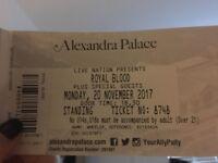 2 x Royal Blood standing tickets concert tonight Alexandra Palace