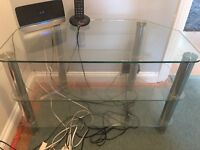 Glass TV Stand, 3 tiers