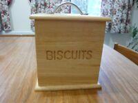 Wooden Biscuits Storage Container