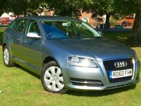 2010 AUDI A3 TDI GREY 1.6 DIESEL 5 DOOR **BRAND NEW MOT**