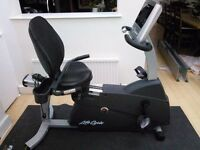 Hardly used Lifecycle R3 recumbent exercise bike with GoConsole. Pick up only.