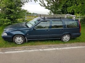 Volvo V70 with roof-rack, great work vehicle, TAX + MOT till September. STRONG AS AN OX!!!