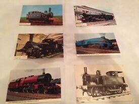 Collectors Railway postcards with albums