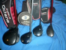 Callaway set woods 1 3 7 and hybrid