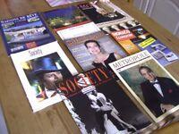 Magazines & Brochures x 9. Society x 2 '94 '96, Metropole Magazine '97, Monaco Actualite no. 67 '97+