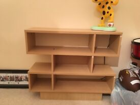 Light wood shelf