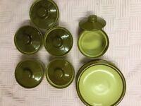 Vintage soup bowls with lids