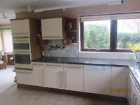 Kitchen Furniture including Ceramic Hob, Double Oven, Dishwasher, Sink and Taps,