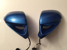 Vauxhall Corsa D VXR Arden Blue 2007 Genuine Pair Of Door Wing Mirrors