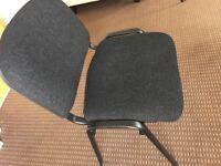 4 Office Meeting Room Chairs Dark Grey