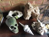 Job lot of 5 large stone and ornament