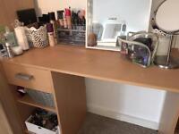 Light wood desk