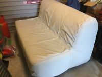 Ikea two seat sofa bed with cover.