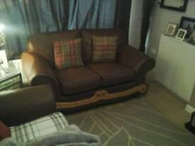 Brown 2 & 1 Sofa