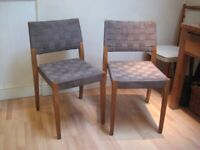 Pair of Kitchen / Dining Chairs, Solid Wood & Webbed - By Accademia, Made in Italy