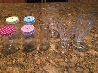 Sundae glasses /milkshake bottles