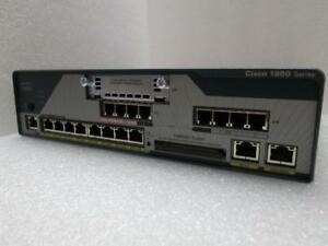 Cisco 1861E Integrated Services Router - 8-User SRST/CMA - (4) FXS, (4) FXO, (8) 10/100 PoE - HWIC - C1861E-SRST-F/K9