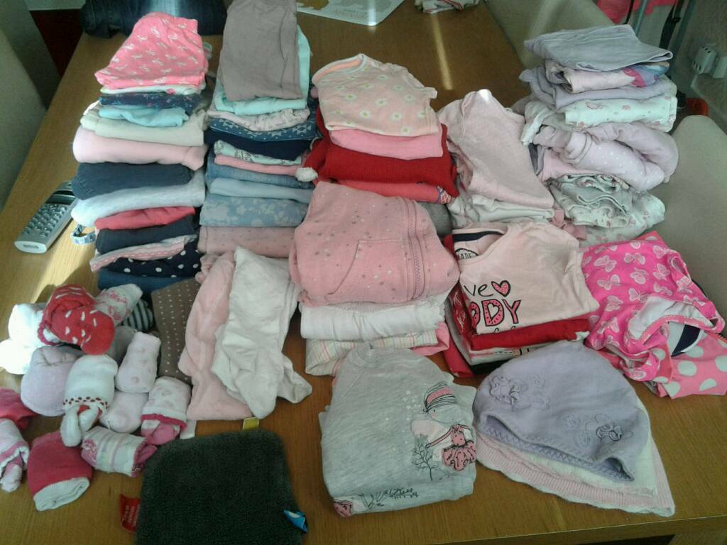 Bundle of used baby girl clothes