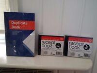 x 2 Receipt Books and x 1 Duplicate Book