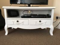 'Toulouse White' TV Stand For Sale