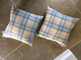 Tweed cushions in duck egg brand new