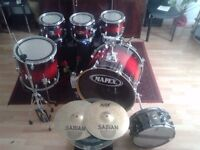 mapex m birch 6pc kit+ iron cobra jnr double pedal + black panther snare MUST GO NOT PEARL ,TAMA,DW,