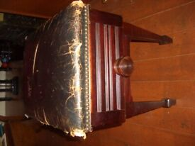Antique Edwardian Piano stool with storage ,beautifully made ,probably rosewood .