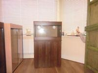 brand new 2ft vivarium and cabinet in opra wallnut