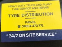 TRUCK AND PLANT TYRES 24/7 MOBILE BREAKDOWN SERVICE